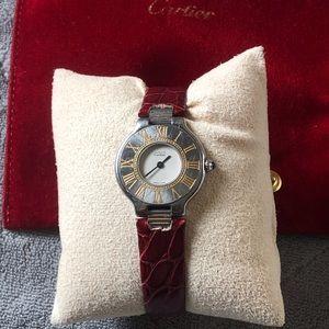 Cartier Must de 21 watch❤️